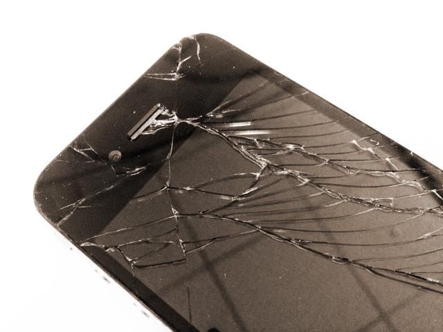 iPhoneのガラスを割りましたの画像。